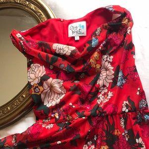 Bea&Dot ModCloth floral red Dress